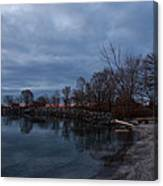 Early Still And Transparent - On The Shores Of Lake Ontario In Toronto Canvas Print
