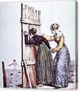 Early Victorian Peeping Women Canvas Print