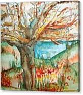 Early Winter Tree Canvas Print