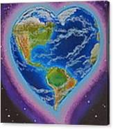 Earth Equals Heart Canvas Print