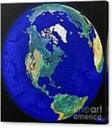 Earth From Space America Canvas Print