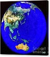 Earth Seen From Space Australia And Azia Canvas Print