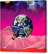 Earth To Mars Canvas Print