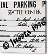 Earth Wind Fire Seattle Parking Permit Canvas Print