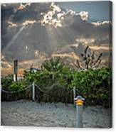 Earthly Light And Heavenly Light - Hdr Style Canvas Print