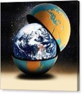 Earths Protective Cover Canvas Print