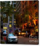 East 44th Street - Rhapsody In Blue And Orange - Close View Canvas Print