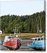 East Coast Low Tide Scene Canvas Print