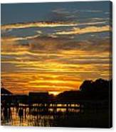 East Coast Sunset Canvas Print