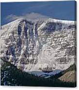 1m3743-east Face Mt. Kitchener With Cloud Canvas Print