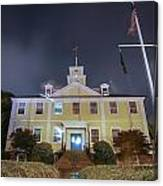 East Greenwich Town House At Night Canvas Print