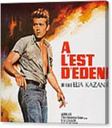 East Of Eden, French Poster Art, James Canvas Print