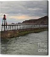 East Pier Whitby Canvas Print