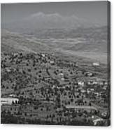 East Prescott Black And White Canvas Print
