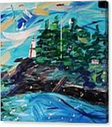 Campobello Lighthouse Abstract Canvas Print