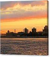 East River At Sunrise Canvas Print