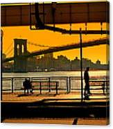 East River Sunset Canvas Print
