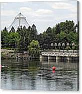 East Riverfront Park And Dam - Spokane Washington Canvas Print