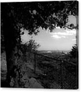 East Rock Black And White Canvas Print