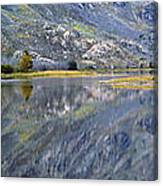 East Rosebud Lake Fall Panorama Canvas Print