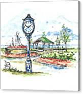 East Tawas Harbor Park Canvas Print