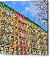 East Village Buildings On East Fourth Street And Bowery Canvas Print