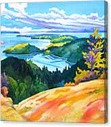 Easter Bluff View Canvas Print