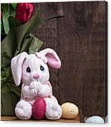 Easter Bunny Card Canvas Print
