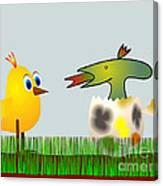 Easter Egg - Disagreeable Surprise Canvas Print