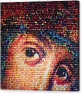 Easter Eggs Mosaic Canvas Print