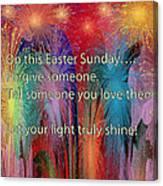 Easter Inspiring Digital Painting Canvas Print