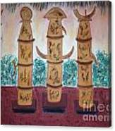 Easter Island Poles Canvas Print