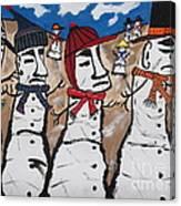 Easter Island Snow Men Canvas Print