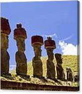 Easter Island Statues  Canvas Print