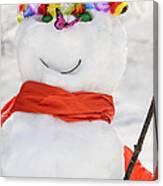 Easter Snowman Canvas Print