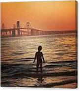 Eastern Shore Water Baby Canvas Print