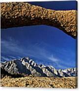Eastern Sierra Nevada Mountains Lathe Arch Canvas Print