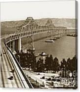Eastern Span Of San Francisco-  Oakland Bay Bridge Circa 1937 Canvas Print