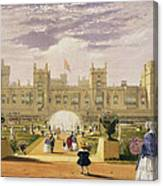 Eastern View Of The Castle And Garden Canvas Print