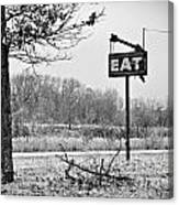 Eat Here Canvas Print