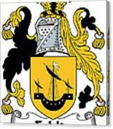 Echlin Coat Of Arms Irish Canvas Print