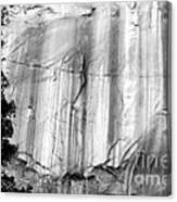 Echo Canyon Bw Canvas Print