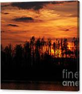 Echoes Of The Fire Canvas Print