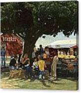 Eckert's Market Under Big Tree Canvas Print
