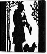 Eckstein Man And Dog Canvas Print