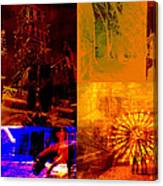 Eclectic Things Collage Canvas Print