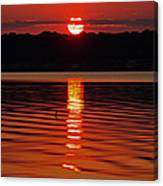 Eclipse Sunset Canvas Print
