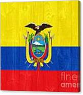 Ecuador Flag Canvas Print
