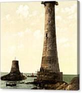 Eddystone Lighthouse Plymouth England Canvas Print