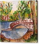 Eden Park Lake Canvas Print